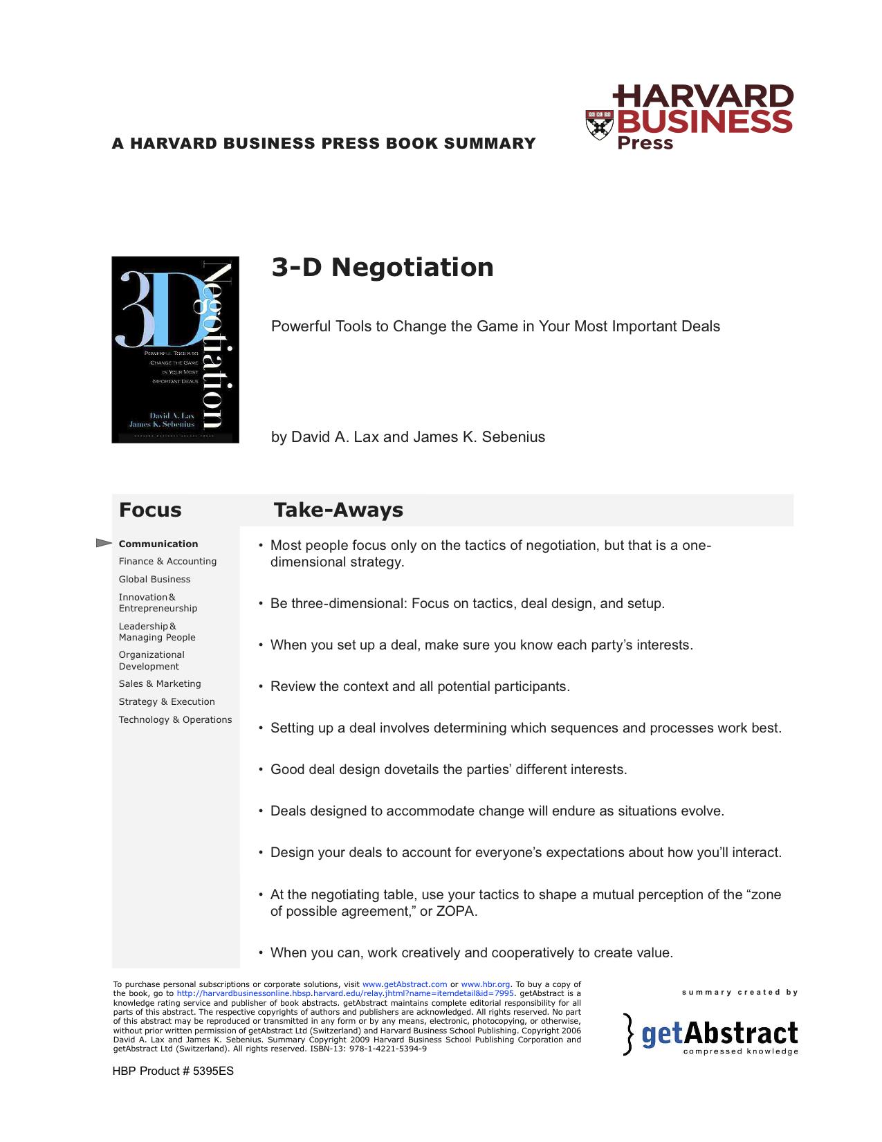 Lax-3DNegotiation