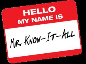 Mr. Know-it-all, Schmexpert