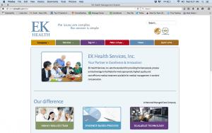 EK Health website