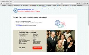 Intl Contact website