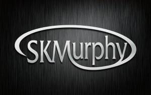 Metal sculpture SKMurphy logo