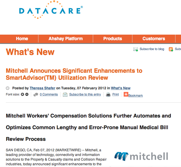 Mitchell Embeds DataCare