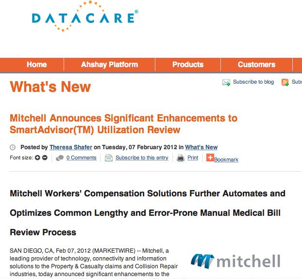 Mitchell Embeds DataCare