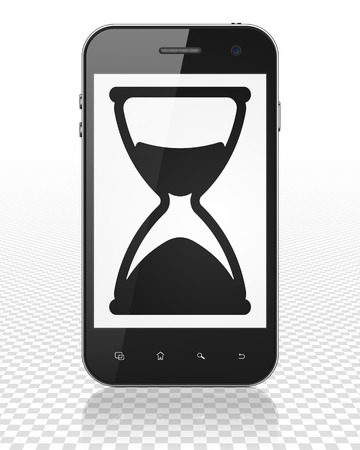 Hourglass: arriving early means realizing it's later than you think in time to still be on time