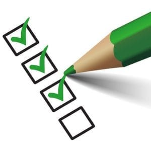 30686078 - vector green check mark symbol and icon on checklist with pen for approved design concept and web graphic