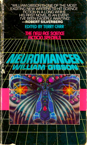 Original Paperback cover for Neuromancer