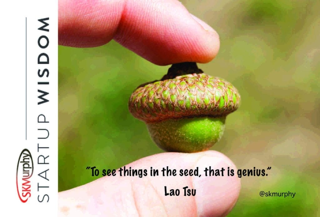 To see things in the seed, that is genius. Lao Tsu