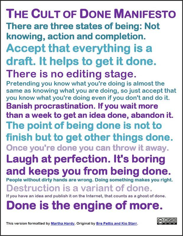 Cult of Done Manifesto