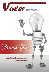 Voler Thank You Note