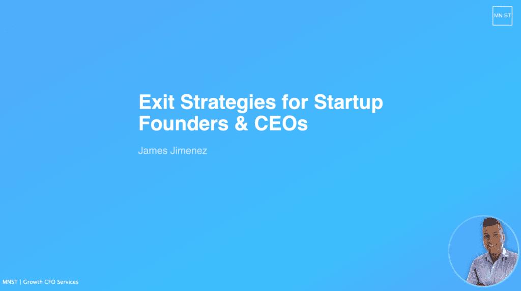 Slides for Exit Strategies for Startups
