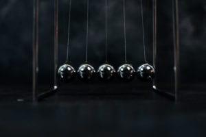 five placid ball bearings