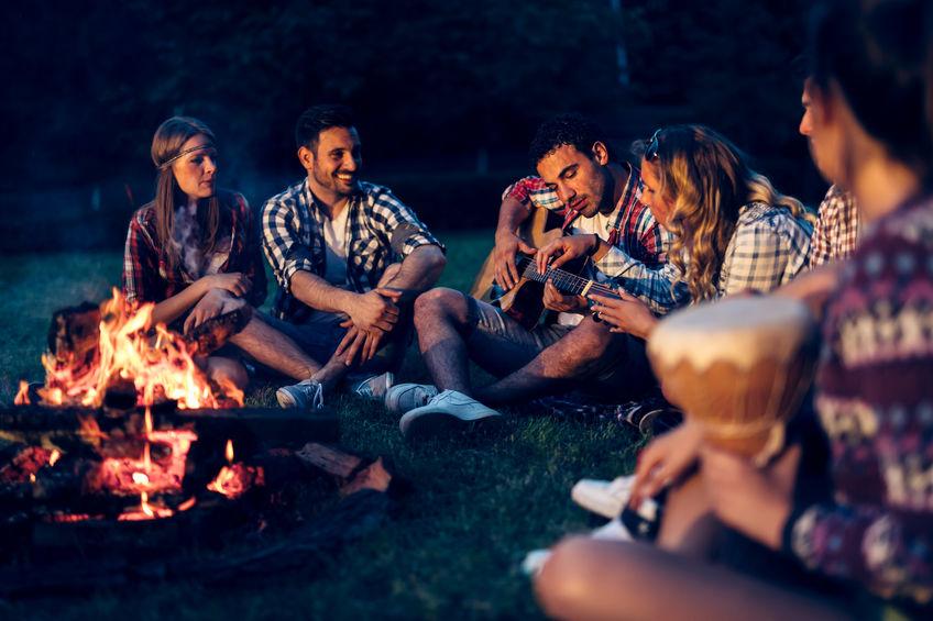 storytelling around a campfire